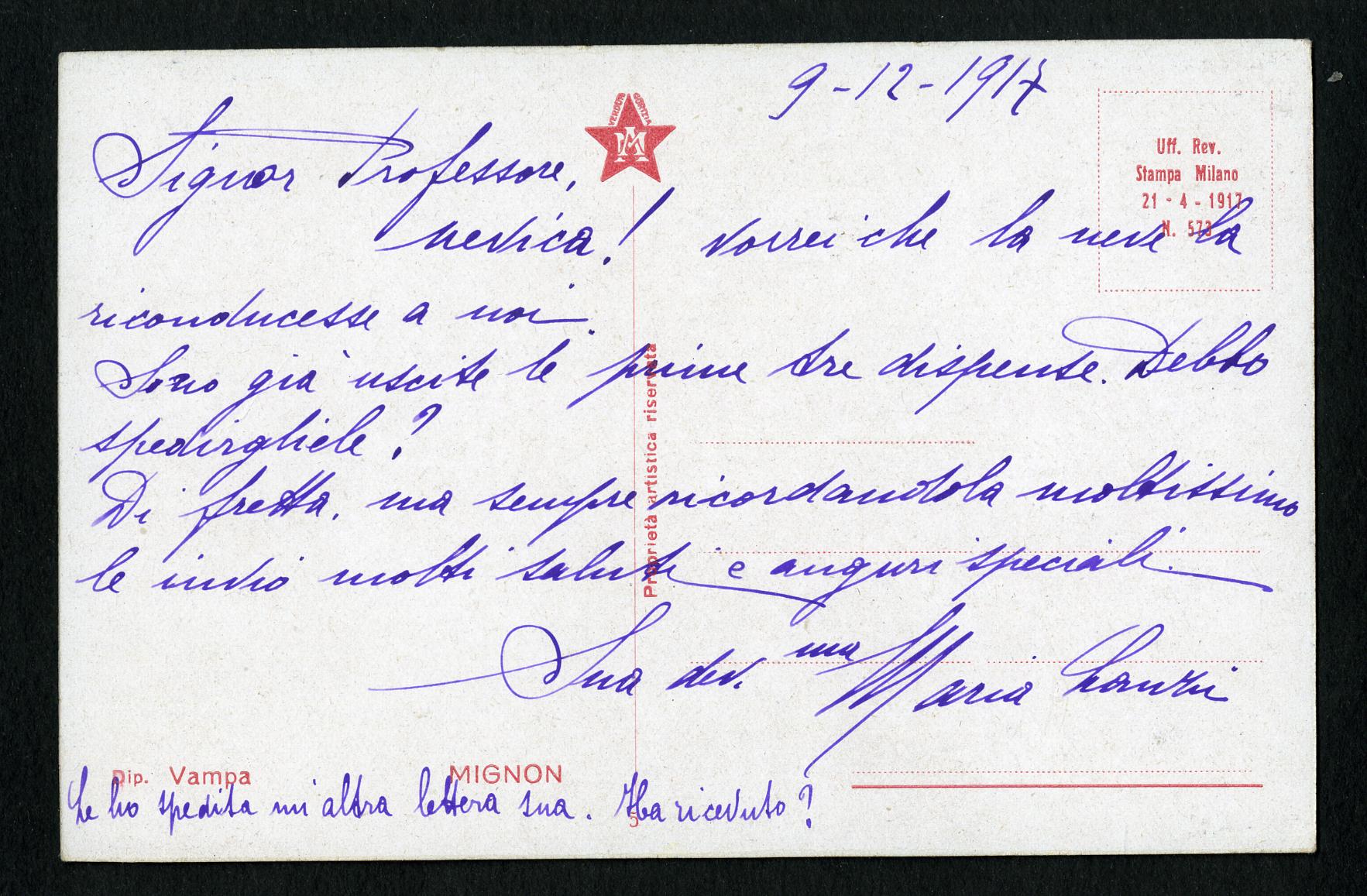 Lanzi Amelia Maria in Doniselli (I) | Aspi – Archivio