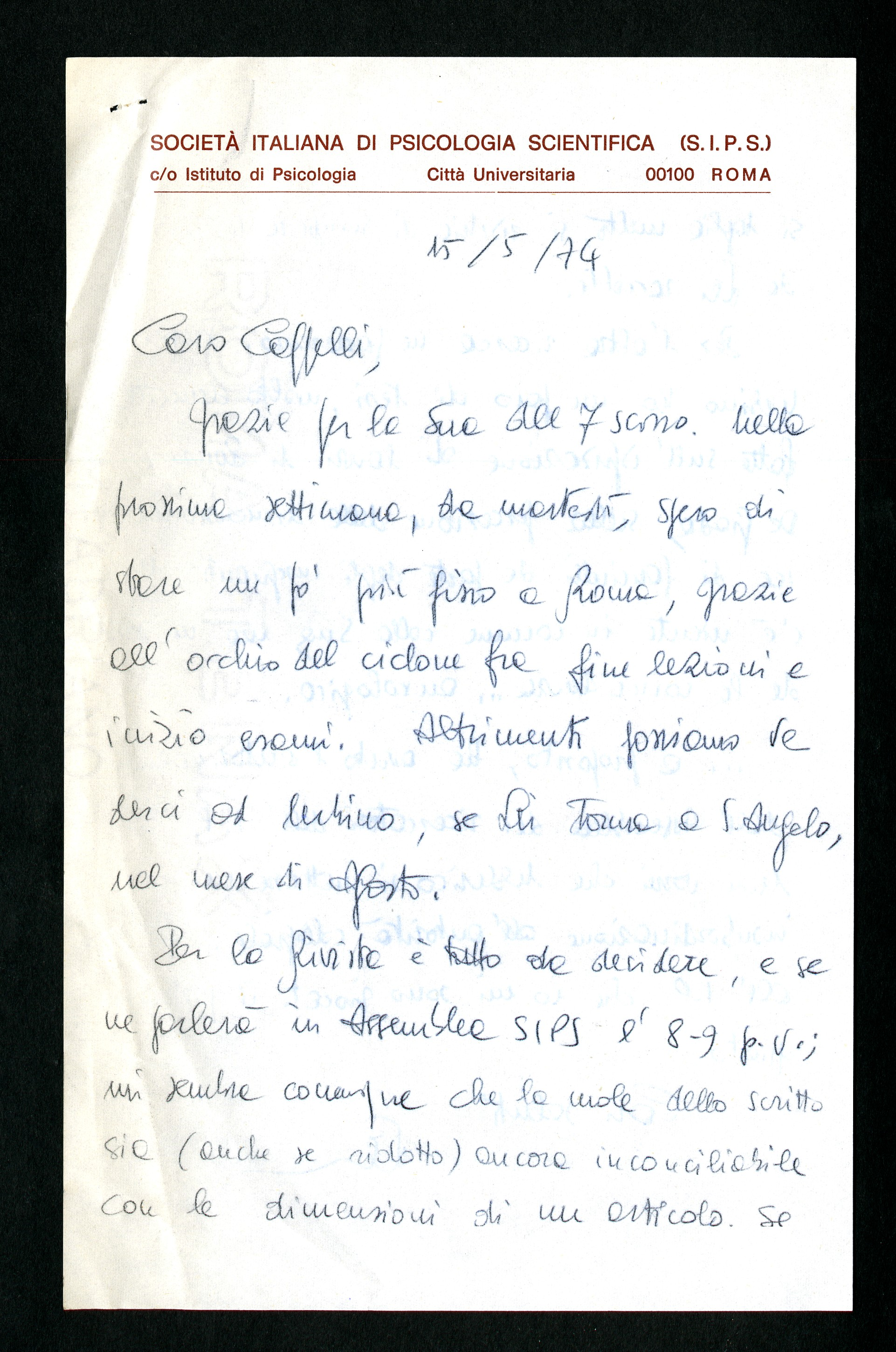 Cappelli Ulderico - Aspi - Archivio storico della psicologia italiana b151d4163cda