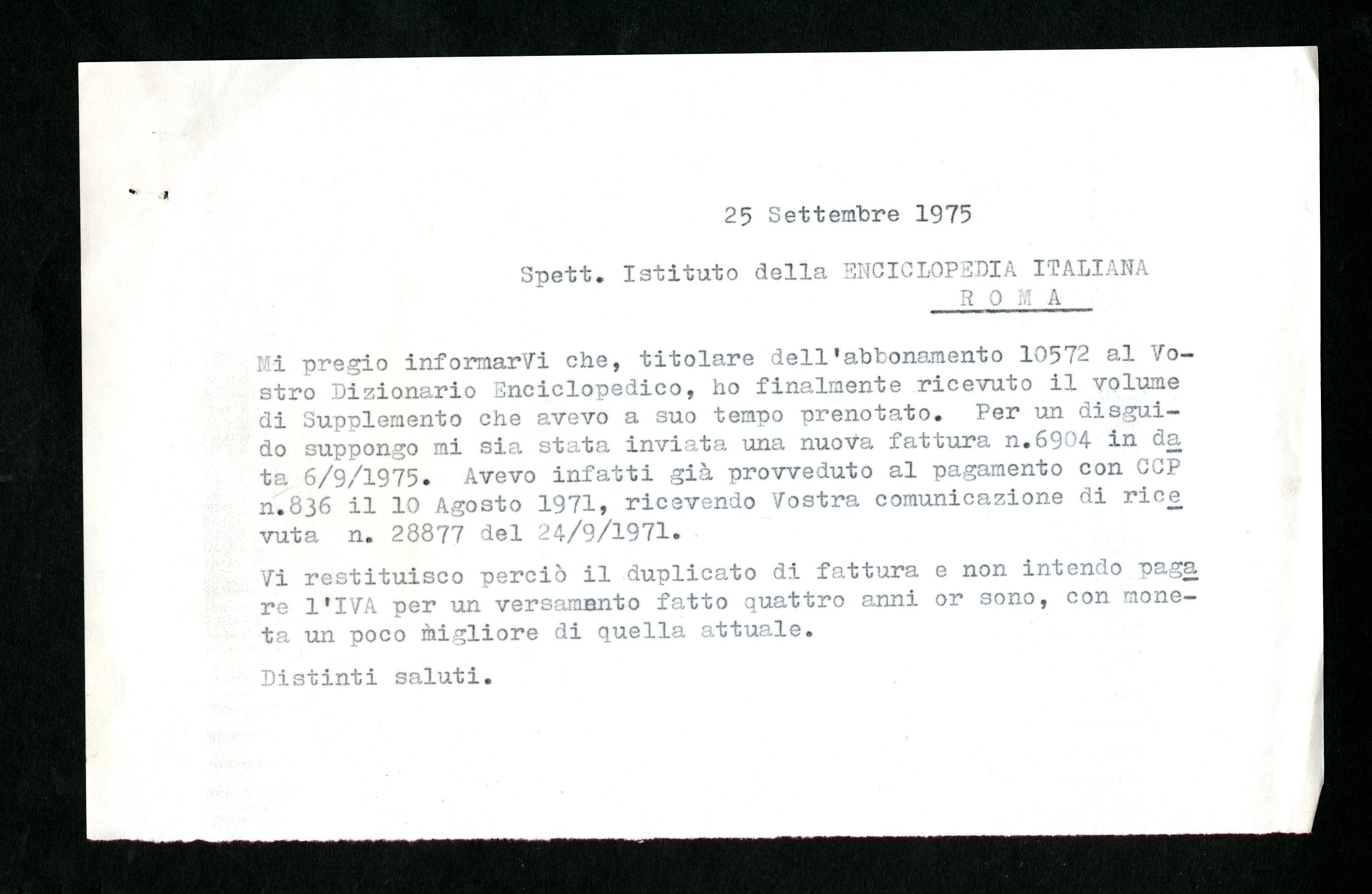 Istituto dell enciclopedia italiana di Roma - Aspi - Archivio ... 84589e561938