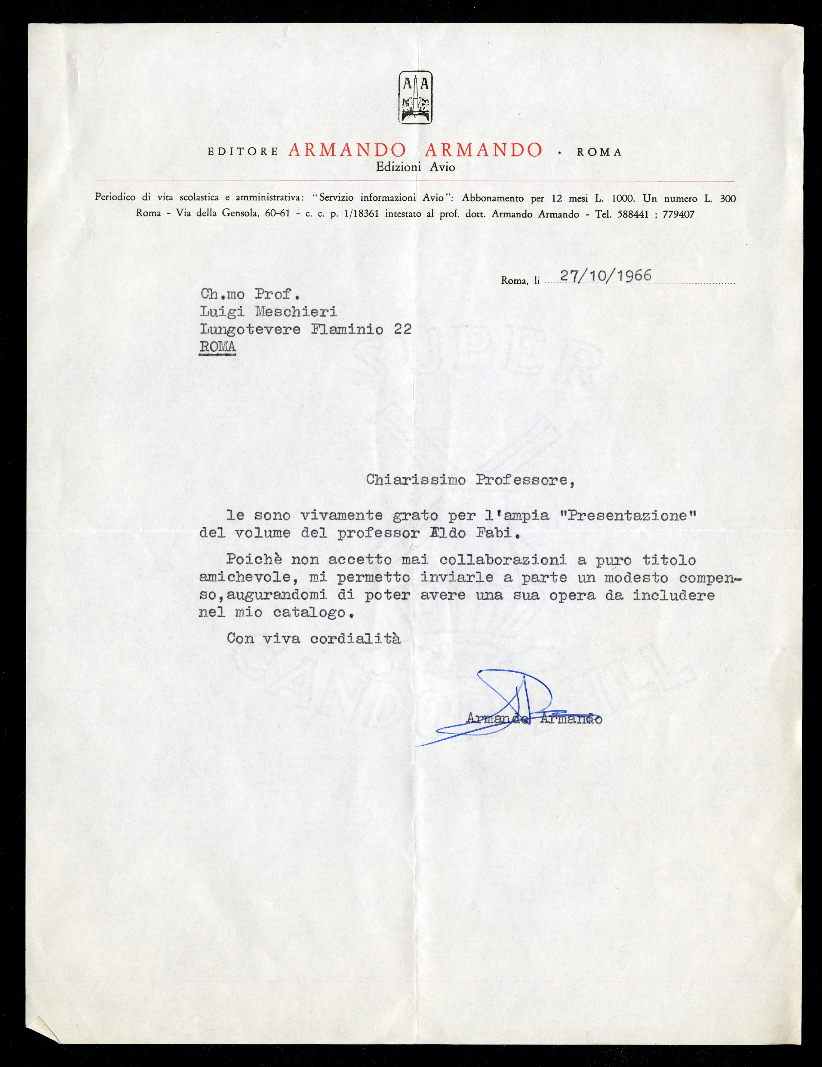 Armando Armando - Aspi - Archivio storico della psicologia italiana f285923e89ea