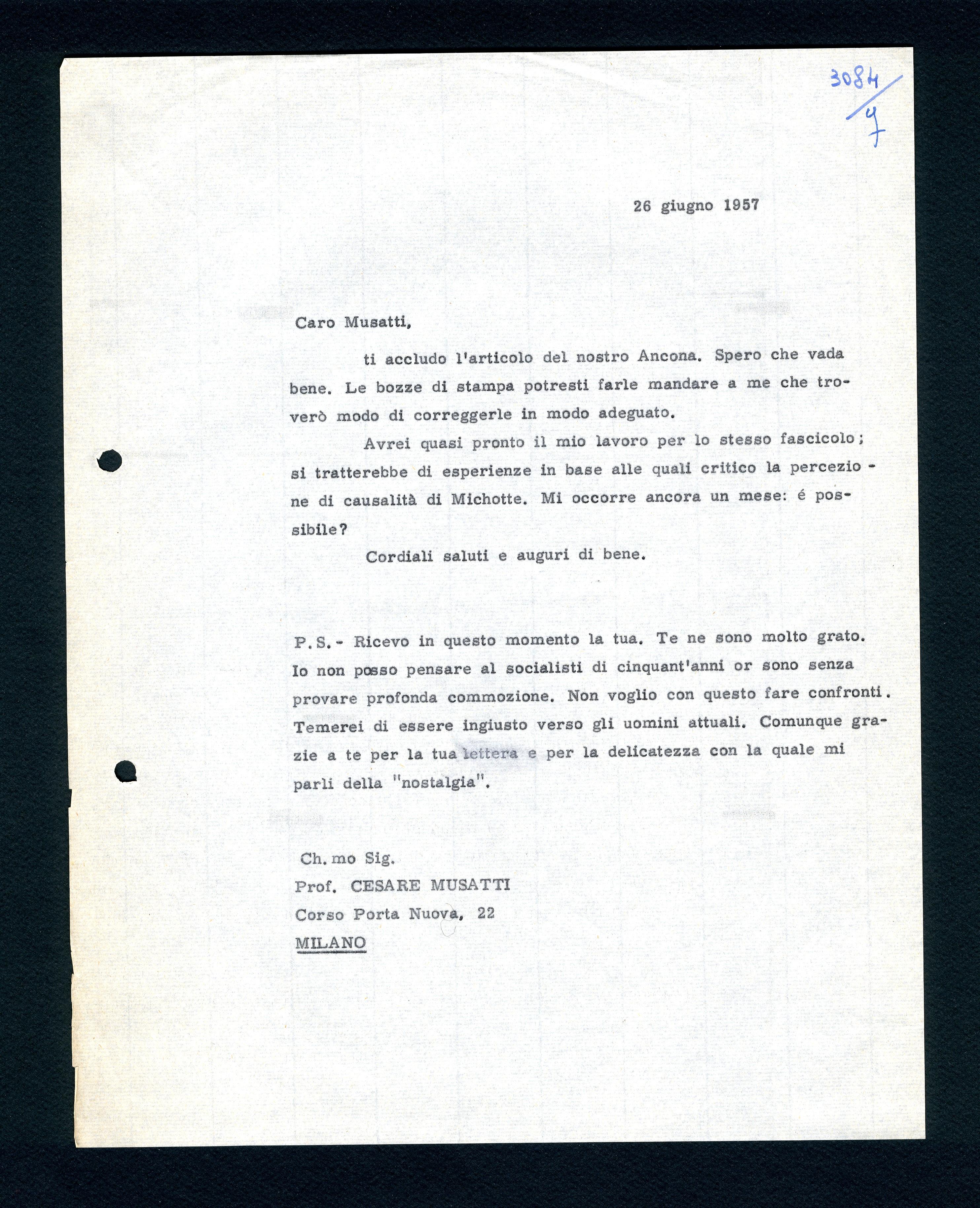Musatti Cesare (seconda parte) (9 febbraio 1954 – 4 giugno
