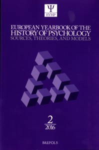 European Yearbook of the History of Psychology (2016)