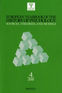 European Yearbook of the History of Psychology (2018)