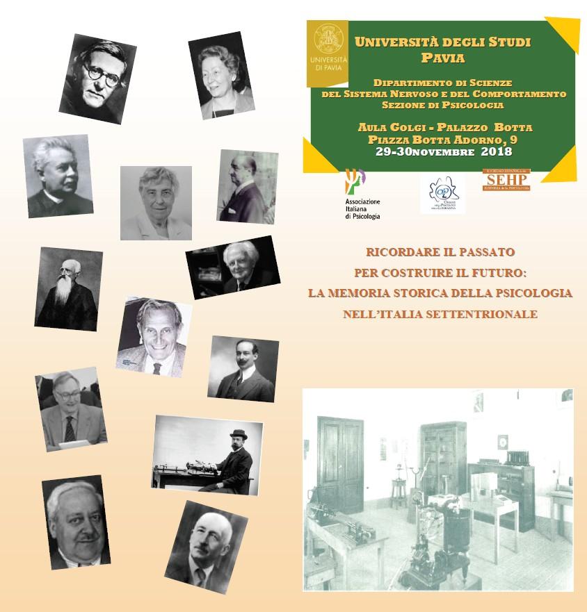 Convegno sulla storia della psicologia a Pavia