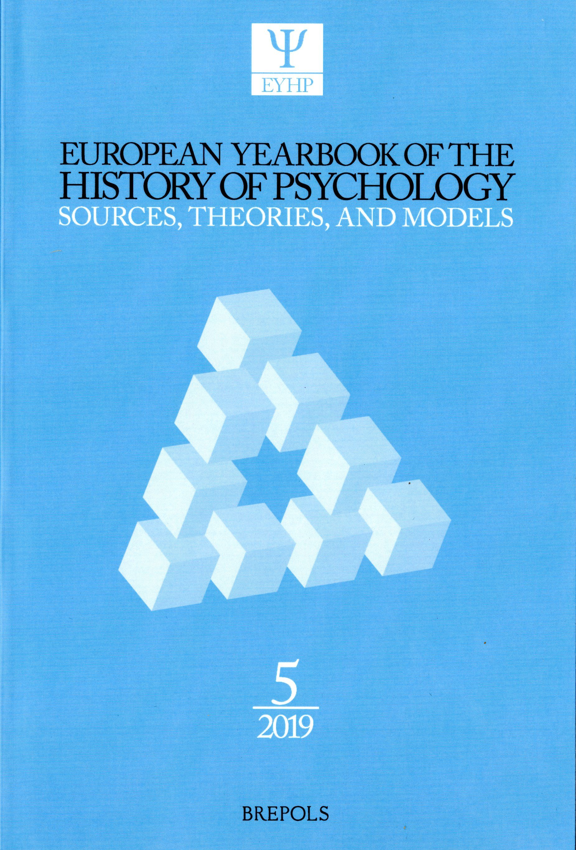 European Yearbook of the History of Psychology (2019)